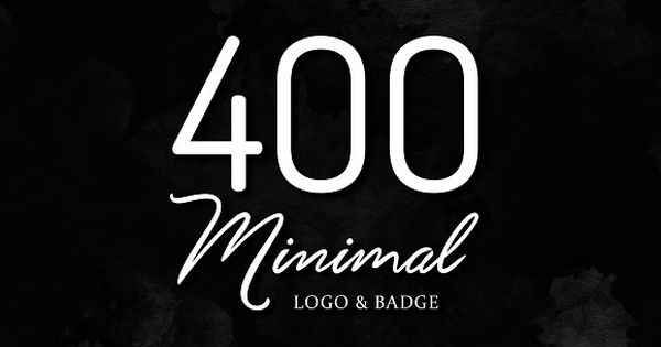 400 Minimal Logo – perfect for any project