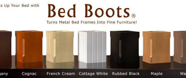 Bed Boots Bed Frame Leg Covers | home goods | Pinterest ...