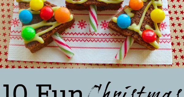 10 Fun Christmas Food Ideas. Cute Christmas tree brownies.