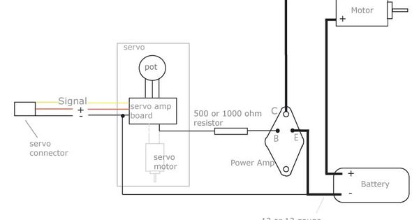 diy electronic speed controller  single power amp