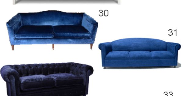 get the look blue velvet sofas stylecarrot get the look