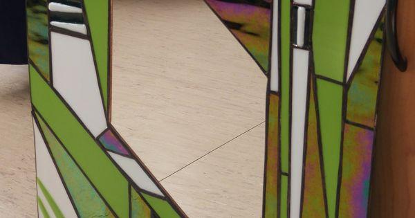 Miroir vitrail tiffany art d co art d co art et d co for Miroir art deco