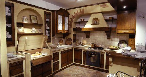 Cucine in muratura rustiche galleria di foto e immagini for Cucine pinterest