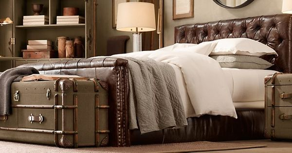 Leather beds restoration hardware my apartment for Restoration hardware furniture quality