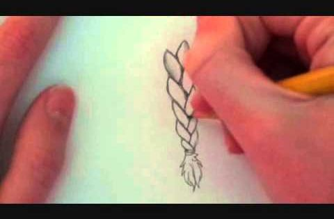how to draw a braid easy