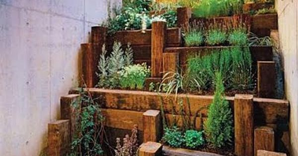 very artistic small space garden idea Hill Herbs Garden