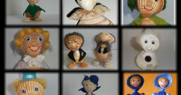 Personnage en coquillage coquillages pinterest - Bricolage avec coquillage ...
