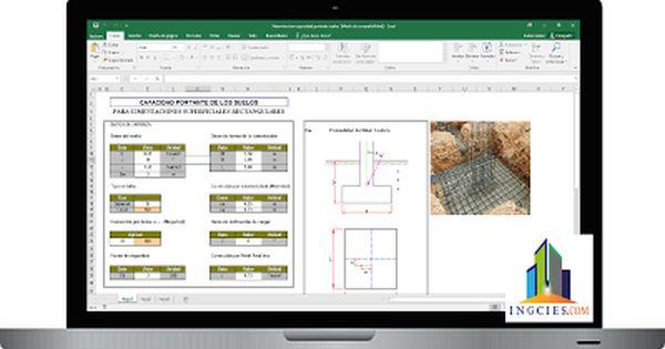 Plantilla Para Capacidad Portante Del Suelo Para Cimentaciones Superficiales En Excel En 2020 Con Imagenes Capacidad Portante Cimentacion Suelos