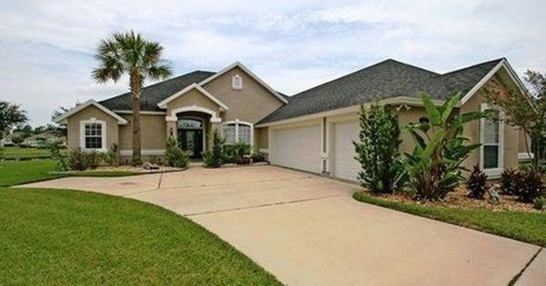 Gray Black Roof Tan Stucco White Trim White Window Pains Exterior Remodel Florida Homes Exterior Outside House Colors