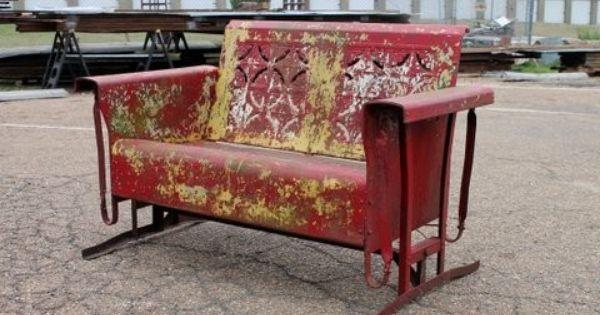 This Just In Vintage Metal Glider Price 150 Vintage Outdoor
