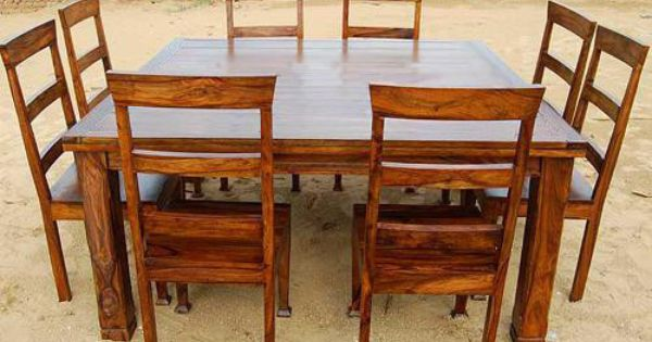square dining room tables for 8 | Rustic 9 PC Square Dining Room Table FOR 8 Person Seat ...
