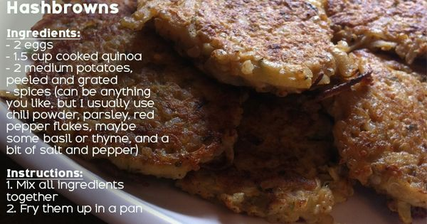 Quinoa, Potatoes and Hash browns on Pinterest