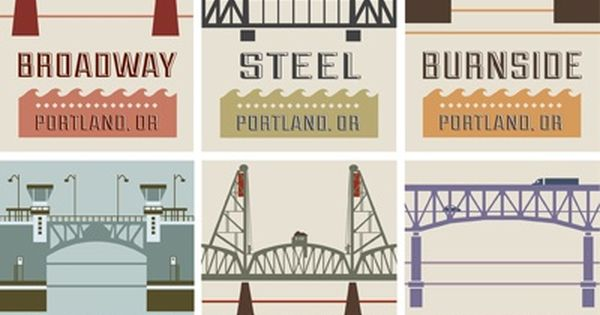 Portland bridge series finished including the under construction Caruthers Bridge! They call