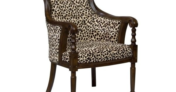 Animal Print Arm Chair Liked On Polyvore