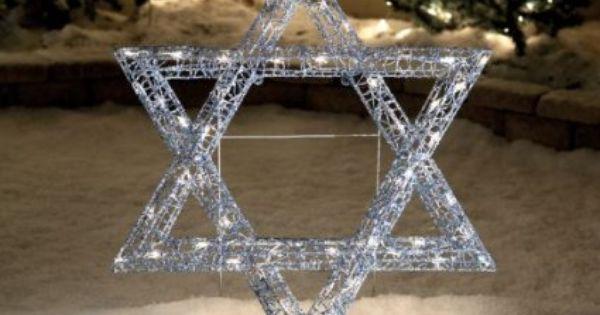 Amazon Com 36 Star Of David Lighted Hanukkah Chanukah Passover Judaica Festival Of Candle Lights Display Hanukkah Decorations Chanukah Decor Happy Hannukah