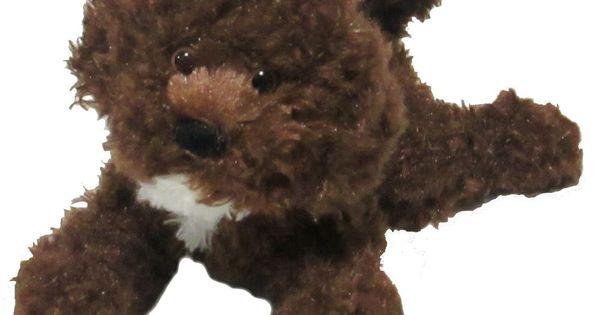 8 Inch Bosco Chocolate Labradoodle Dog Plush Stuffed