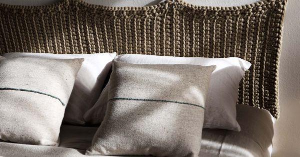 Preciosos cabeceros o respaldos tejidos manualmente que - Tejidos y novedades paredes ...
