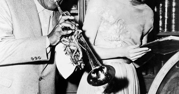 Louis Armstrong and Grace Kelly vintage music jazz LouisArmstrong GraceKelly // June