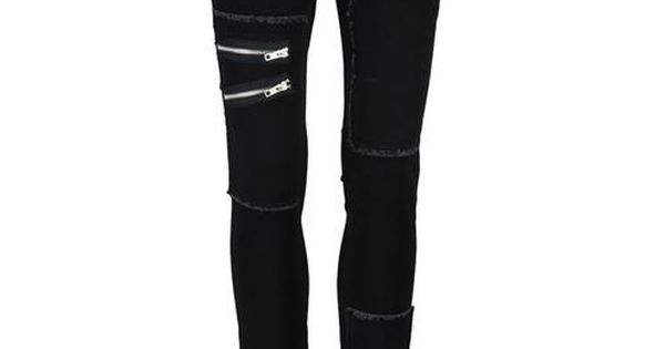 black jeans with zippers!! love these!!!