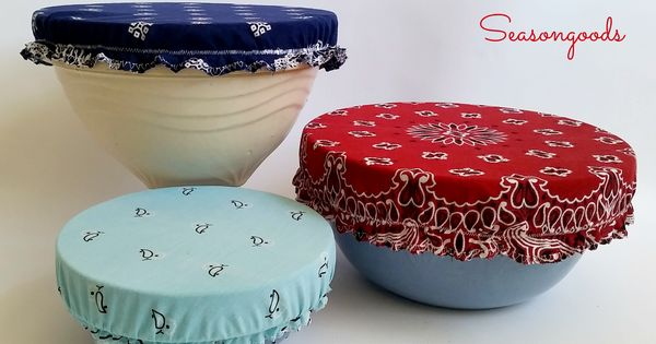 vintage bandana bowl covers keep bugs out of your bbq foods with these nifty handmade bowl. Black Bedroom Furniture Sets. Home Design Ideas