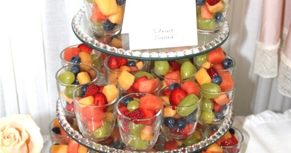 Fruit Salad Cups for bridal shower!