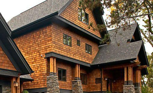 Western Red Cedar Shake Siding Quality Rustic Siding Cedar Shingle Siding Shingle Siding Red House Exterior