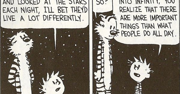 Some wise words of wisdom from Calvin to Hobbes.
