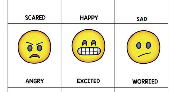 Emoji Feeling Faces: Feelings Recognition | Feelings chart ...