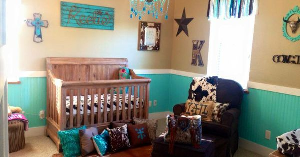 Western Bedroom Tank Toy Box Or: Teal And Brown Cowgirl Nursery