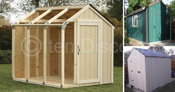 7x8 Shed Garage Kit Plans Steel Brackets Connectors Frame