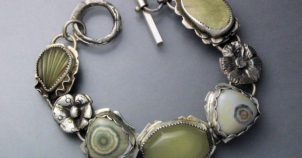 bracelet temi kucinski sterling silver ocean jaspers. Black Bedroom Furniture Sets. Home Design Ideas
