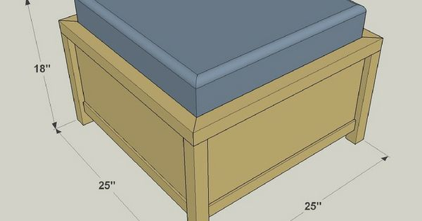 how to build a diy storage ottoman free printable