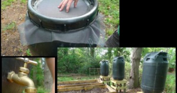 Learn how to make your own rain barrel watering systems for How to make your own rain barrel system