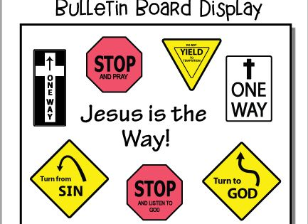 Jesus Is The Way Bulletin Board Display With Images Vacation