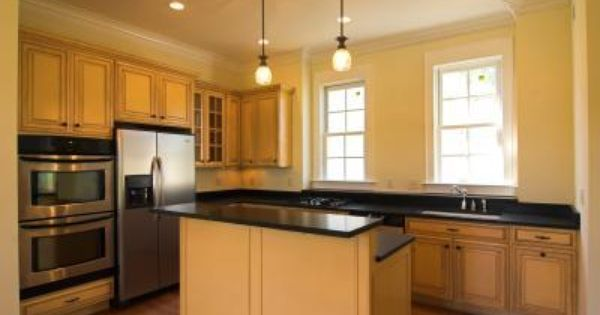 Wall Color With Maple Cabinets Google Search Maple Kitchen Cabinets Kitchen Paint Colors Yellow Kitchen Walls