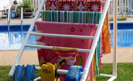 DIY- Outdoor towel rack made from PVC pipe! I need to make
