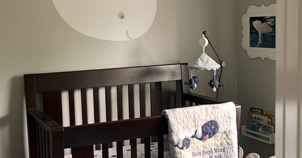 Baby Whale Nursery! LOVE the wall decal! ♥ grandkids babynursery mindymcpherson