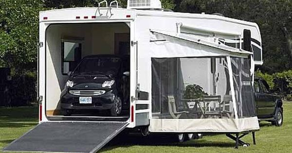 5th wheel toy hauler glendale titanium fifth wheel exterior toy hauler model rv pinterest - Garage for rv model ...