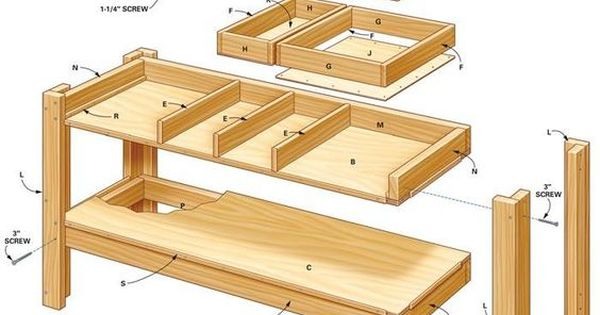 8 Foot Garage Workbench Simple Workbench Plans The