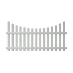 4 Ft X 8 Ft Vinyl Glendale Scalloped Top Spaced Picket Fence Panel With 3 In Dog Ear Pickets 153150 At Th Picket Fence Panels Vinyl Fence Panels Vinyl Fence
