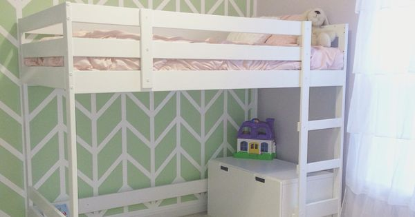 ikea mydal loft bed hack for little girls room just change the colors and it 39 s perfect for a. Black Bedroom Furniture Sets. Home Design Ideas