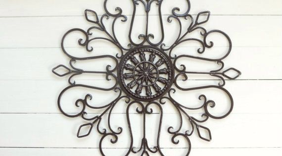 Metal Wall Scroll / Outdoor Decor / Wall Medallion By