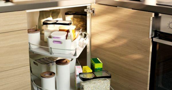 Rationell corner base cabinet carousel complete kitchen for Complete kitchen base units