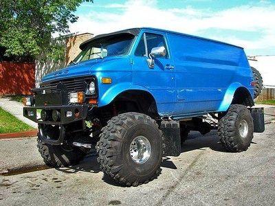 Monster Van 4x4 Van Lifted Van Chevy Van