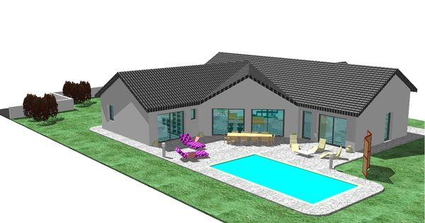 nous recherchons des plan de maison en v d 39 une surface d 39 environ 100m2 en plain pied avec une. Black Bedroom Furniture Sets. Home Design Ideas