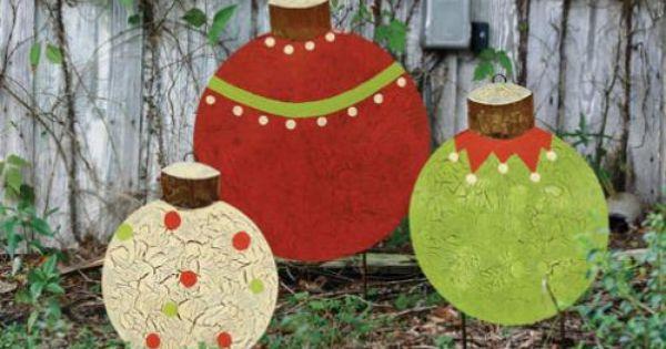 Hand Painted Metal Ornaments Christmas Yard Decorations Christmas Yard Art Christmas Decorations Diy Outdoor