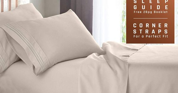Empyrean Bedding Full Size Bed Sheets Set Cream Beige Ivory Soft Luxury 4 Piece Bed Set Features Special Tight Fit Bed Sheet Sets Twin Xl Bedding Sets Bed