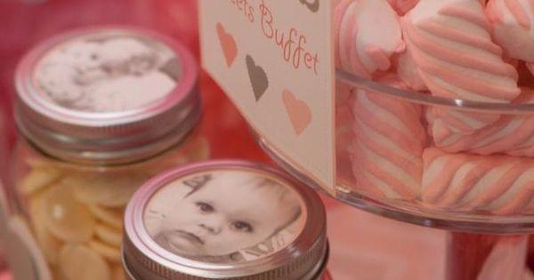 LOVE the mason jar idea :).... good baby shower idea as well