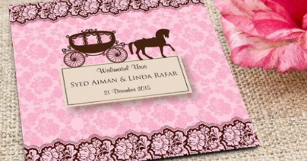 Corak Ini Adalah Corak Seperti Corak Bunga Ros Wedding Invitations Kad Kahwin Print Design
