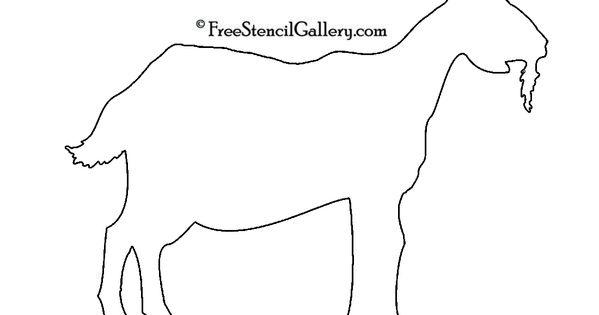Goat Silhouette Stencil Stencils Pinterest